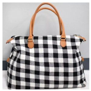 Buffalo Plaid Bag – White or Red – Only $22.99! Was $52.99!