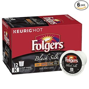 Folgers Black Silk Coffee 72-count K-Cup Pods as low as $25.50 Shipped! ($0.35/cup)