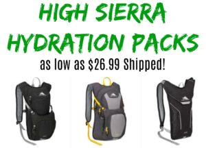 High Sierra Hydration Packs as low as $26.99 Shipped!