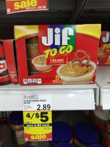Meijer: Jif to Go 8-count Only $0.75! No coupons needed!