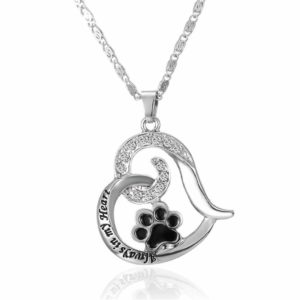 Paw Print Heart Shaped Pendant Necklace Only $1.69 Shipped!