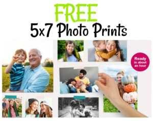TWO FREE 5×7 Photo Prints at Walgreens! Today ONLY!