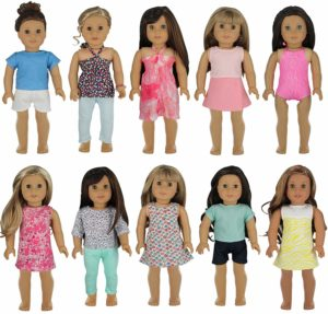 10 Outfits for 18 inch dolls (fits American Girl) Only $24.95!