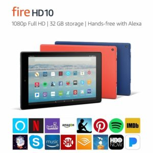 Fire HD 10 Tablet with Alexa Hands-Free – $99.99 – Best Deal!!