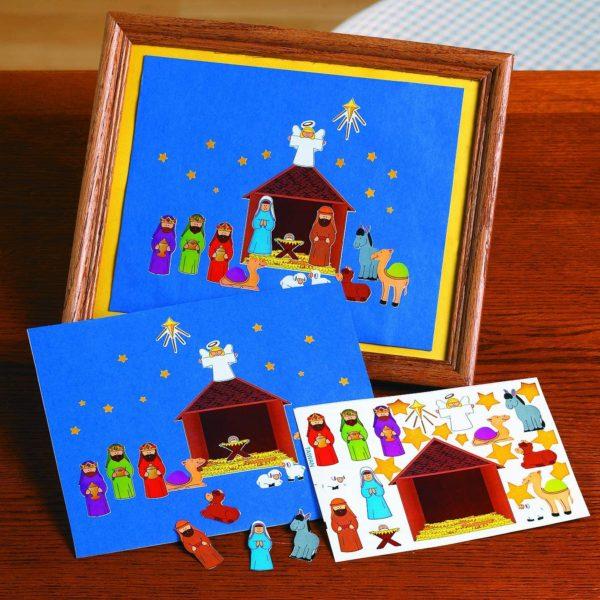 Make a Nativity Scene Sticker Sheets