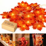 Maple Leaf Lighted Garland Only $9.99! Perfect for Fall!