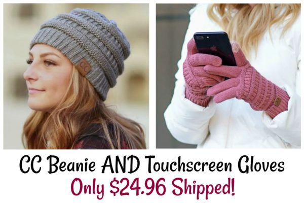 b2d67c4f86a49 Popular CC Beanie and Touchscreen Gloves Only  24.96 Shipped ...