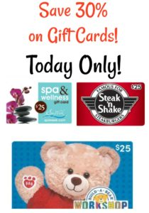 *HOT* Save 30% on Gift Cards at Sams Club!! Online and Today Only!