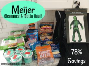 Meijer Clearance & Ibotta Haul – 78% Savings!