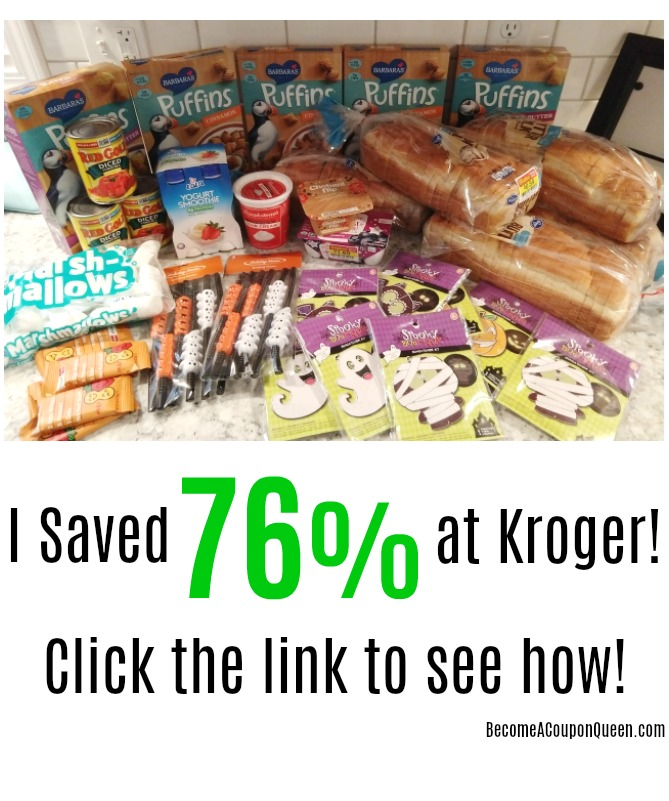 I Saved 76% at Kroger – Buy 10, Save $5 Sale + Halloween Clearance!