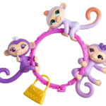 Fingerlings Minis Set with 3 Monkeys + Bracelet and Charm Only $5.99!