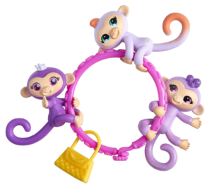 Fingerlings Minis Set with 3 Monkeys + Bracelet and Charm Only $4.97!