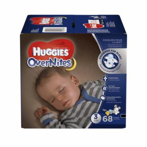 HUGGIES OverNites Diapers, Size 3, 68 count Only $14.35 Shipped!