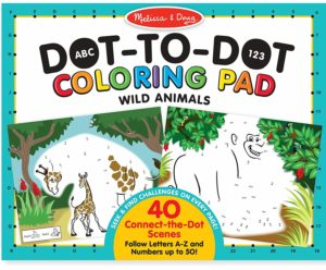 Melissa & Doug ABC 123 Wild Animals Dot-to-Dot Coloring Pad Only $4.92!