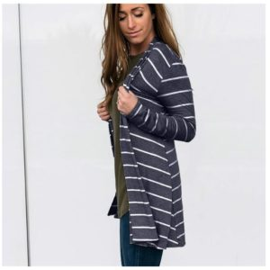 Striped Open Front Cardigan | Free Shipping – Was $39.99 – Now $19.99!