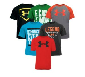 Under Armour Boy's T-Shirt 5-Pack Only $40 Shipped! ($8 Each!)
