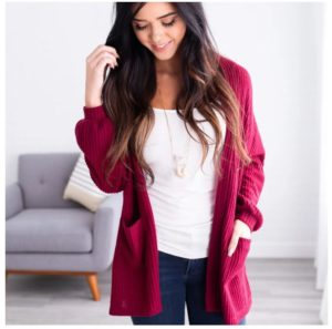 Waffle Knit Pocket Cardigan – Was $44.99 – Now $21.99 + Free Shipping!