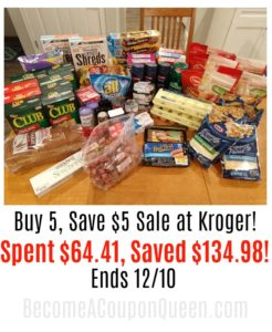 Kroger Buy 5, Save $5 Sale Shopping Haul! 68% Savings!