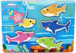 Baby Shark Chunky Wooden Sound Puzzle Only $8.97! Lowest Price!