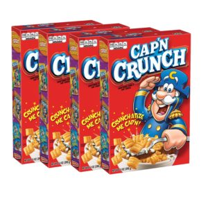 Cap'N Crunch Cereal, 14oz Boxes, 4 Count as low as $4.61 Shipped!