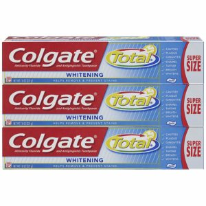Colgate Total Whitening Toothpaste 7.8oz, 3 Count as low as $4.97 Shipped! ($1.65/tube)