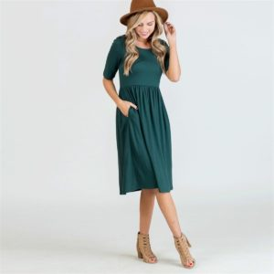 Fit N Flare Midi Dress was $39.99, NOW $14.99!