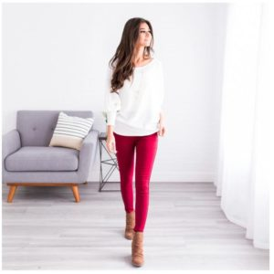 Fleece Lined Perfect Color Skinny was $34.99, NOW $19.99 Shipped!