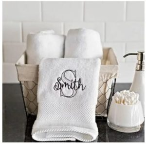 Personalized Luxury Hand Towel Only $14.99 Shipped! Wedding Gift Idea!