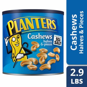 Planters Cashew Halves Pieces Salted 46oz as low as $12.91 Shipped! Best Price!