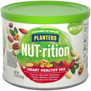 Planters Mixed Nuts, Heart Healthy Mix, 9.75 Ounce, 3 pack as low as $9.44 Shipped! ($3.15 each)