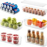 6 Piece Refrigerator and Freezer Stackable Storage Organizer Bins - $26.99 Shipped!