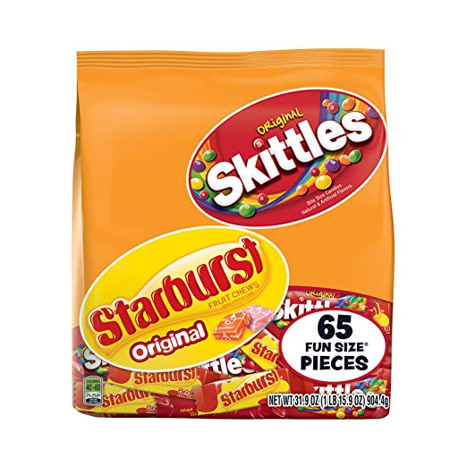 Skittles & Starburst Fun Size Variety Mix 65 Pieces as low as $5.19!