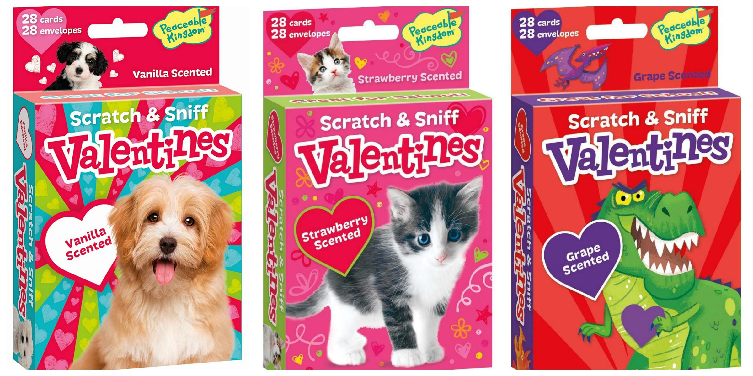 Scratch and Sniff Valentines – 28 Card Pack – as low as $4.99!