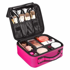 Travel Makeup Case with Dividers and Pockets Only $9.99!