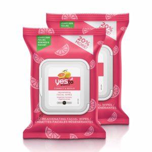 Yes To Grapefruit Correct & Repair Rejuvenating Facial Wipes (Pack of 2) as low as $4.20!