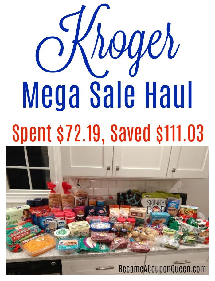 Kroger Mega Sale Haul – Saved $111.03, Spent $72.19!