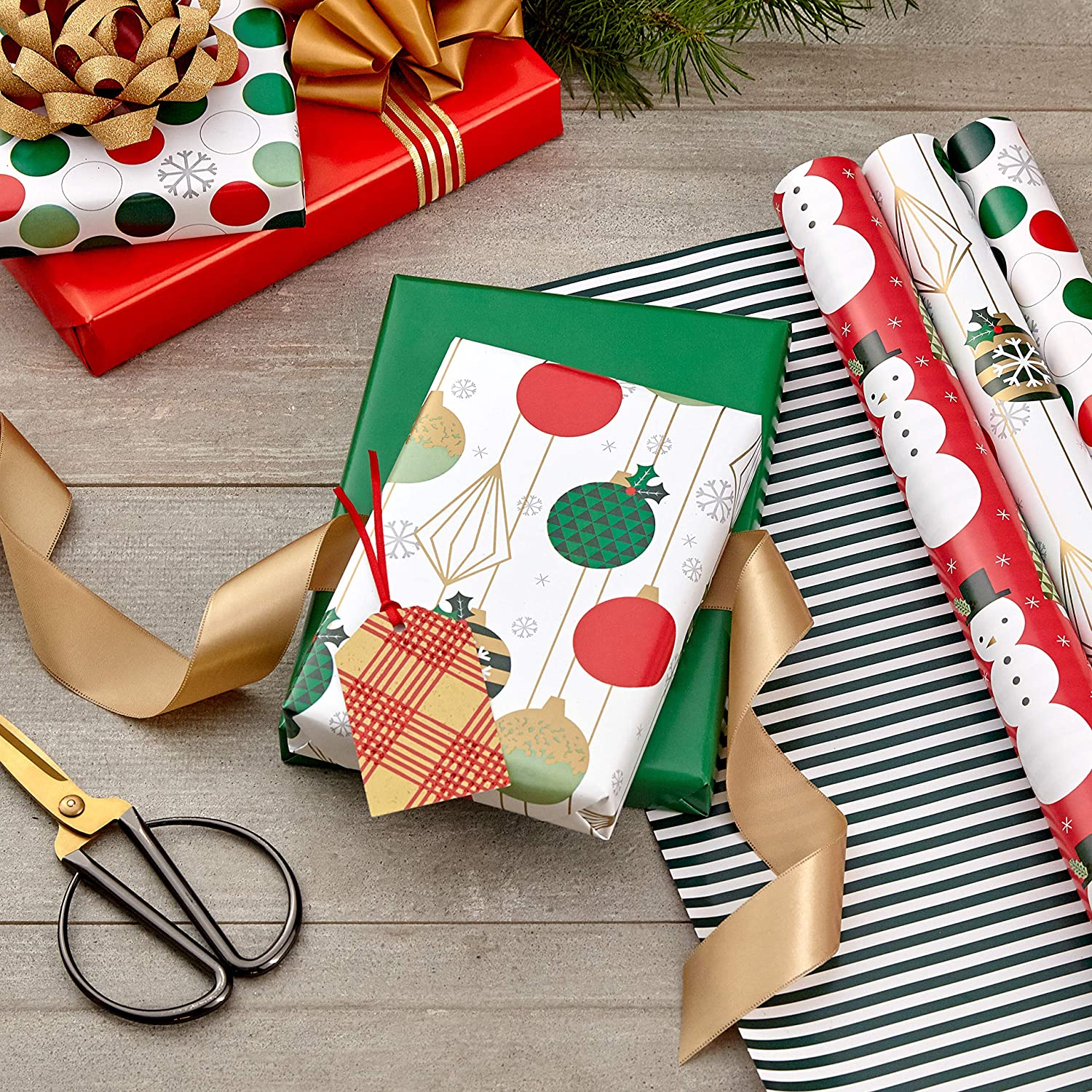 Hallmark Reversible Christmas Wrapping Paper Bundle Only $10.49!