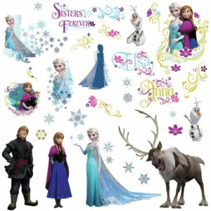 Disney Frozen Peel And Stick Wall Decals Only $4.45!