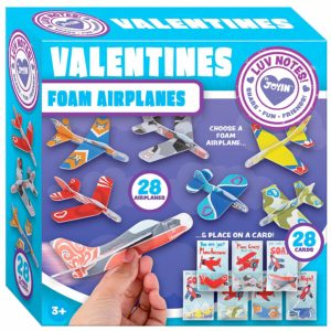 Foam Airplanes Valentines 28-Pack Only $14.95!