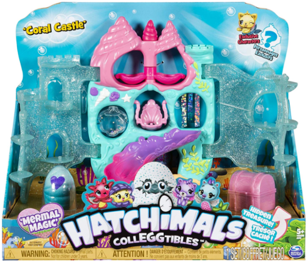 Hatchimals CollEGGtibles Coral Castle Fold Open Playset
