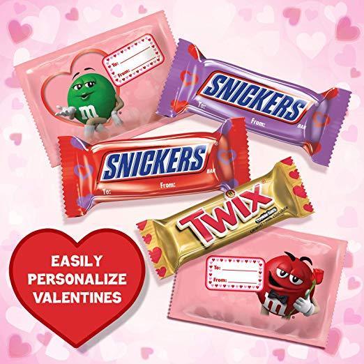M&M'S, SNICKERS & TWIX Valentine Exchange Fun Size Candy 27-Piece as low as $1.05!