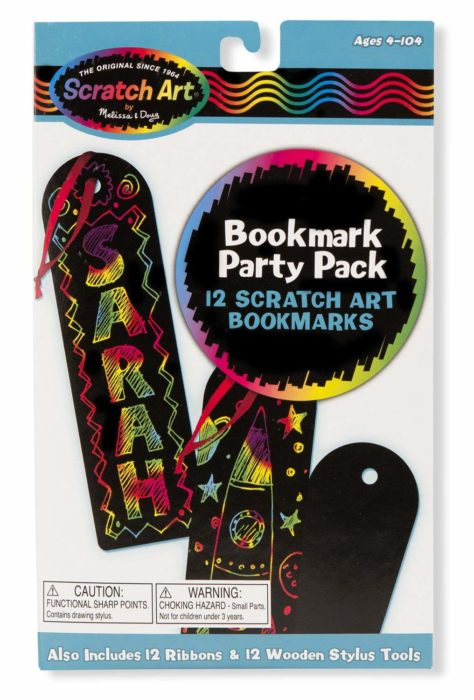Melissa & Doug Scratch Art Bookmark Party Pack Activity Kit