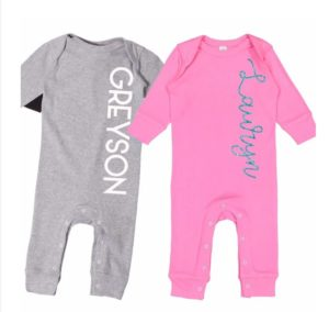 Personalized Baby Name Rompers was $25, NOW $11.99! Great Gift Idea!