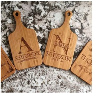 Personalized Handled Bamboo Serving Boards was $39.99, NOW $12.99! Great Wedding Gift!