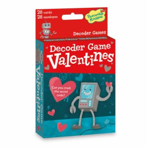 Robot Decoder Game Card Valentines, 28 count Only $7.99!