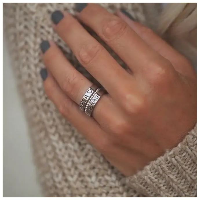 Stackable Stamp Rings + Spacer Set Only $21.98 Shipped!