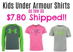 Kids Under Armour Shirts as low as $7.80 Shipped!!