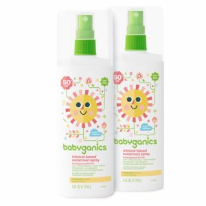 Babyganics Baby Sunscreen Spray, SPF 50, 6oz Spray Bottle (Pack of 2) as low as $10.04 Shipped!