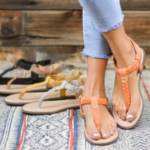 Braided T-Strap Flats Only $18.99!