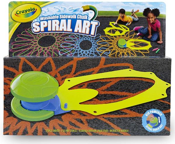 Crayola Washable Sidewalk Chalk Spiral Art Kit